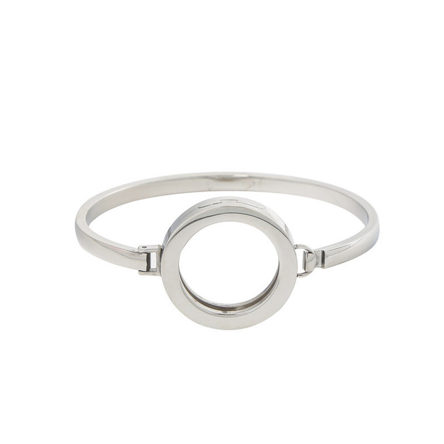 New Arrival 25MM Stainless Steel Magnet Plain Silver Rose Gold Coin Holder Bangle without Coin Disc FR-203AC
