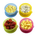 (4 pieces/set)  300ml Baby Food Containers Supplement Snack Storage Cup Box Complementary