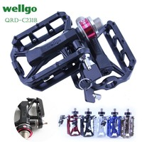 WELLGO QRD C231B mountain bike bearing PEDAL quick release PEDAL Road bike pedal bicycle parts Folding bike pedal