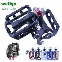 WELLGO QRD-C231B マウンテンバイクベアリングペダルクイックリリースペダルロードバイクペダル自転車部品折りたたみ自転車ペダル