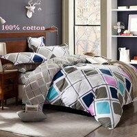 100 Cotton Bedding Set 3pcs 1 Duvet Cover And 2 Pillowcases Not Bedsheet Bedcloths Free Shipping