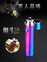 New Double Arc Cigar Lighter Cigarette Usb Charging Electric Plasma Eletronic Windproof Lighters For Smoker Smoking