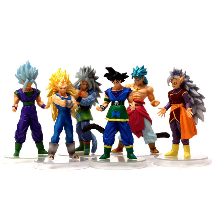 New Japanese Animation Model Seven Dragon Ball Set Decoration Full Set of Dolls Toys Action Figures for Children Gift 7cm large size jp hand done animation crystal dragon ball set genuine model toy gift action figures anime toys kids