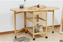 Складной стол. Деревянный телескопический складной столик. Мобильный телефон, чтобы получить Таблица