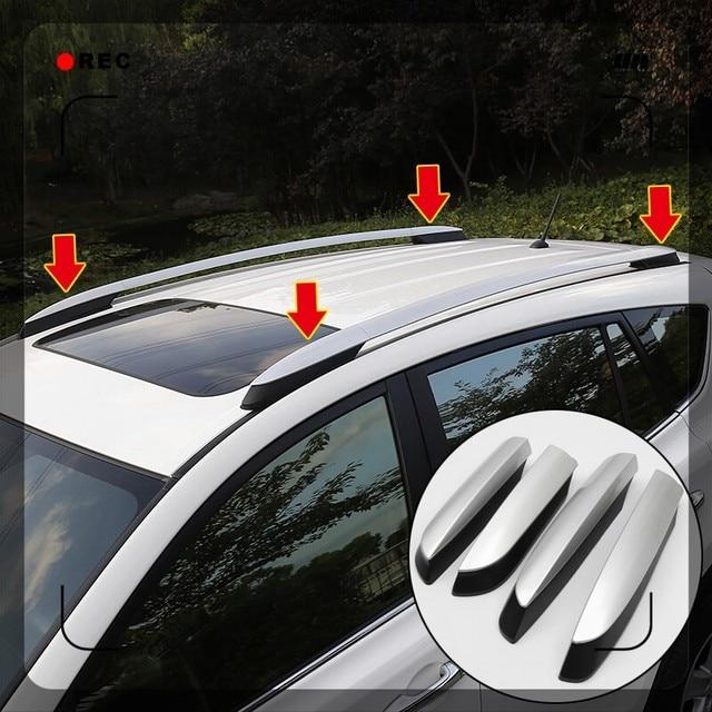 2013 2014 2015 2016 2017 도요타 RAV4 XA40 실버 외관 자동차 자동 지붕 랙 레일 엔드 커버 셸 캡 교체 4PCS