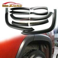 10pcs Black Wide Wheel Fender Flares Scratch Protector Moulding Trim for Jeep Compass 2011 2014
