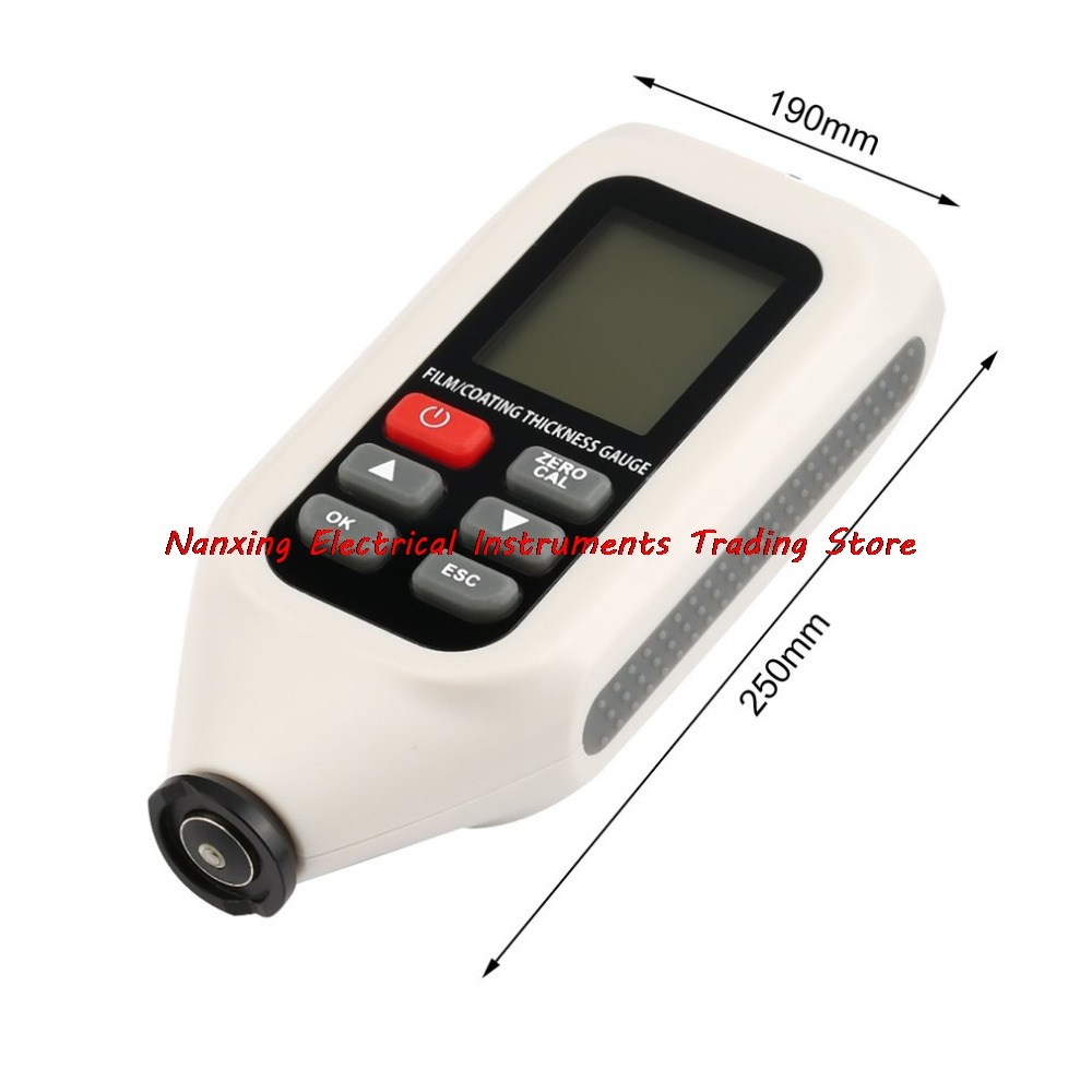 High Accuracy Digital LCD Display Thickness Gauge for Coating And Clad Layer Portable Professional Instrument HT-128