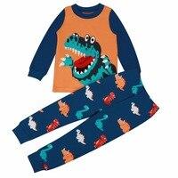 Baby Boy Cartoon Animal Long Sleeve Clothes Set Kids Clothing Set Underwear Dinosaur Pajamas For Boys