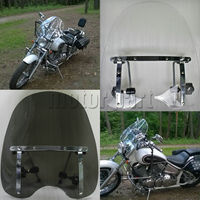 Large Windshield Windscreen 19 X17 For Harley Davidson Freewheeler Dyna Fatboy Lo Forty Eight With 7