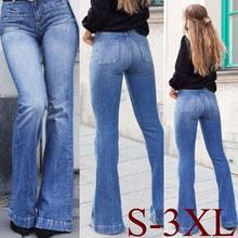 купить Yfashion Fashion Bell-Bottoms Jeans Women New High Waist Slim Fit Flare Denim Pants Trousers Jeans for Ladies Female по цене 1258.99 рублей