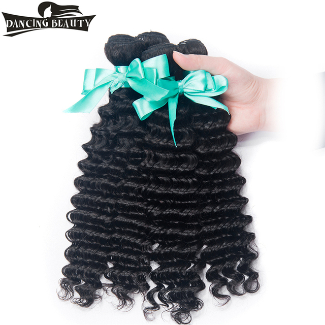 Dancing Beauty Hair Store Peruvian Deep Wave 100 Human Hair Weave