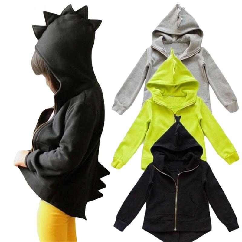 Обувь для мальчиков и куртка для девочек 2018 осень-зима дети динозавров пальто с капюшо ...