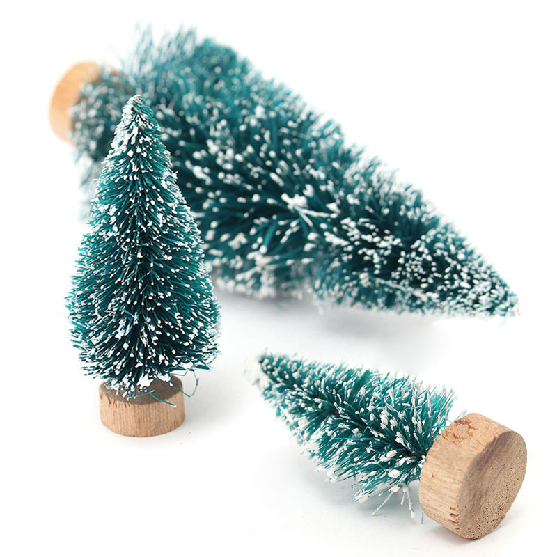 Mini snow christmas tree decor christmas decorations for for Small christmas decorations