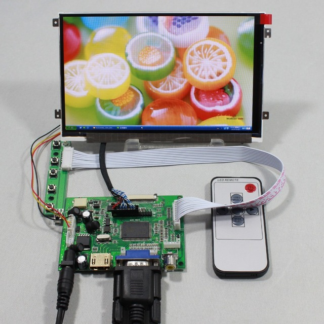 HDMI VGA placa controladora 2av LCD com 7 polegadas HV070WS1 105 1024x600 painel IPS lcd