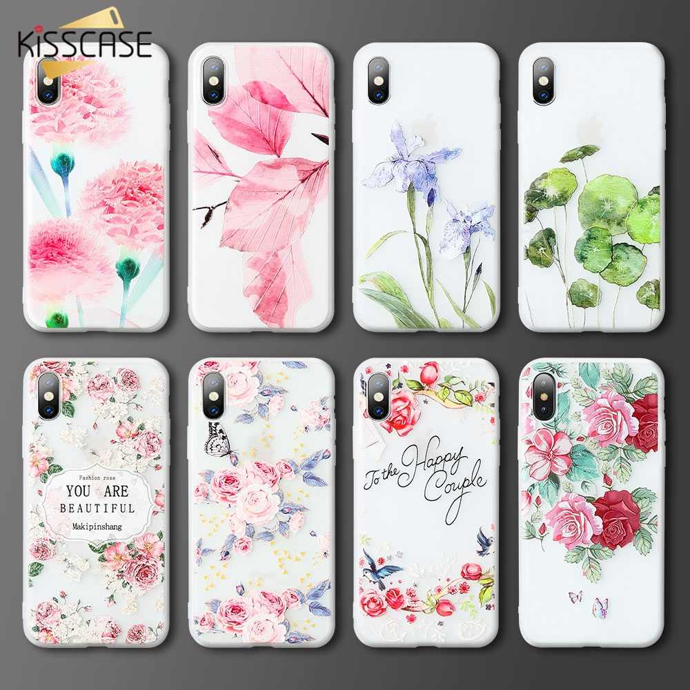 KISSCASE Flower Silicon Phone Case For Xiaomi Redmi 6 6 Pro 4X 4A 5A 5 plus Note 5A 4X 4 MI A1 A2 MI 8 6 MIX 2 S Cases TPU Cover
