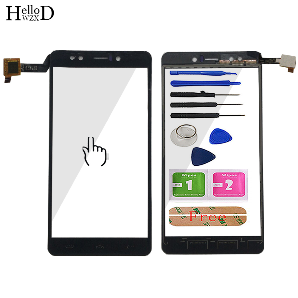 Mobile 5.5'' Touch Screen Digitizer Panel For <font><b>Homtom</b></font> HT10 HT <font><b>10</b></font> Touch Screen Front Glass Panel Replacement Sensor Tools Adhesive image