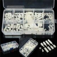 120pcs M2 Nylon Hex Spacers Screw Nut Assortment Stand Off Accessories Set Kit