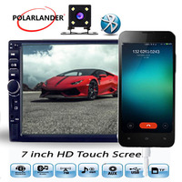 2 Din 7 inch car radio touch screen MP5 MP4 player USB TF Auxin FM stereo with 170 Degree CCD rear camera Bluetooth