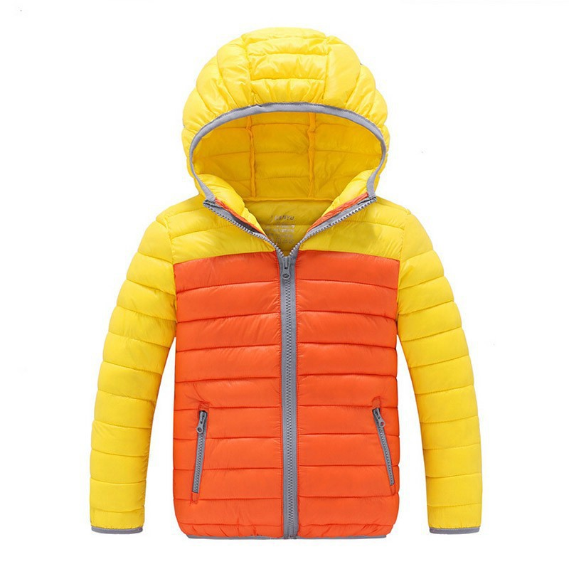 2016 New Fashion Children Down Jacket Boys Coat Long Sleeve Hooded Coats Girls Down Coats Boys Winter Jacket Outwear 3 Colors