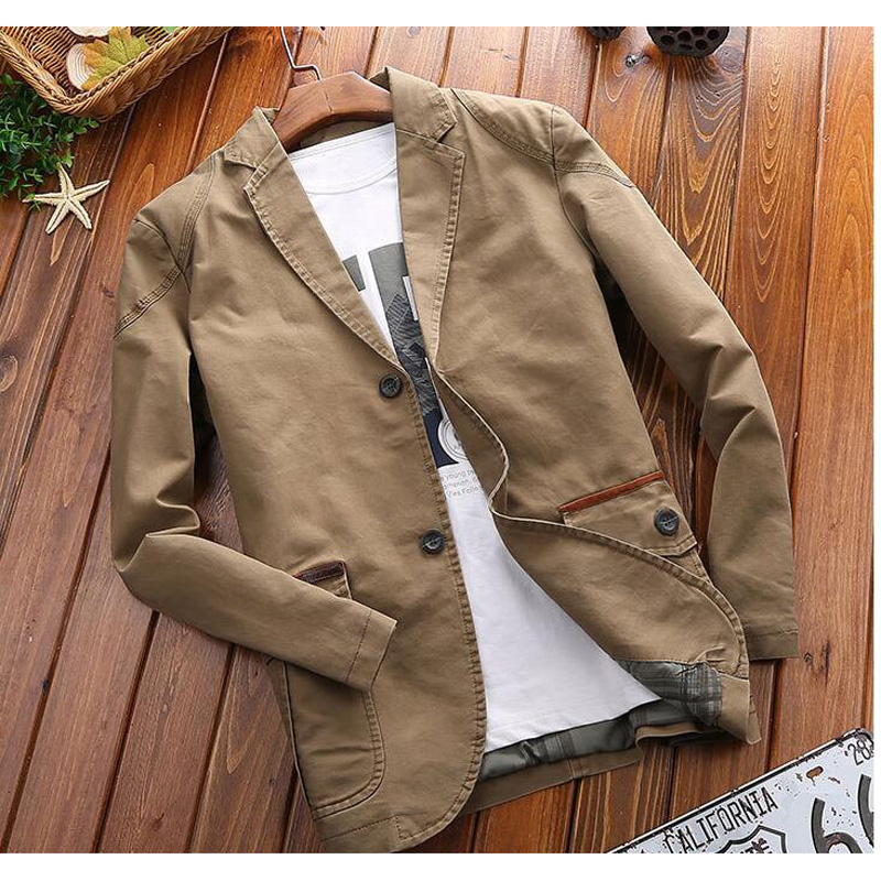 New Spring And Autumn Men Blazers Casual Suit Jacket Men Slim Fit Jacket Coat