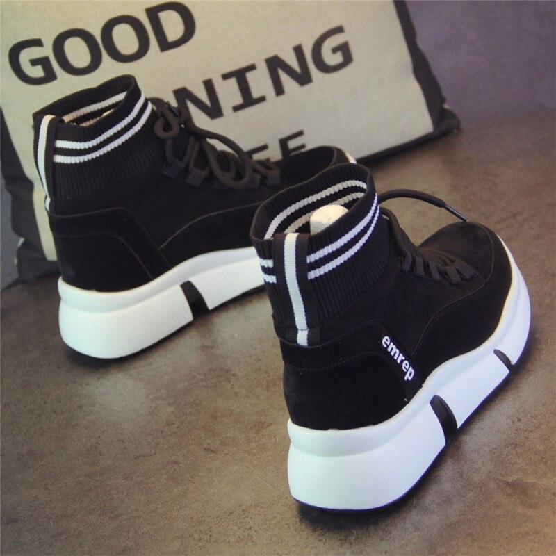 XJRHXJR marque chaussures femmes Designer baskets chaussures décontractées 2019 haut femmes appartements chaussures de marche chaussures vulcanisées 40 - 4