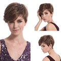 28cm Fashion Sexy Synthetic Lace Front Wig Women Tilted Frisette Short Hair For Ladies HB88
