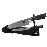 Handmade Black Acrylic Kitchen Knife Holder Can Be Placed 3 Piece Knives Multi Function Knife Stand