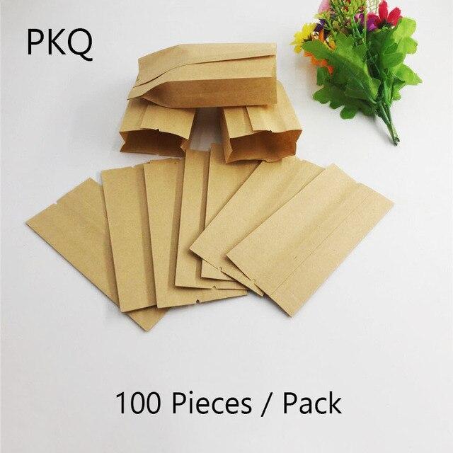 100pcs Lot Small Kraft Paper Bag Food Packaging Bags Tea Dried Fruit