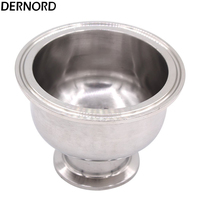 DERNORD 3'' to 1.5'' Tri Clamp Bowl Reducer, Sanitary Fitting Stainless Steel 304, Hemispherical Tri clamp Reducer