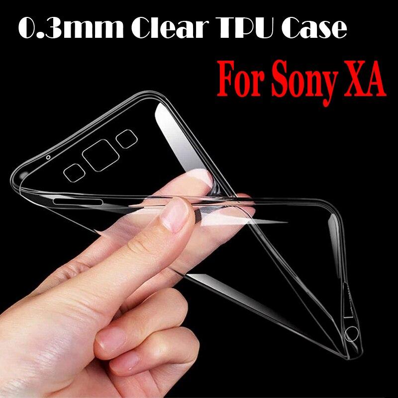 200 шт. для sony Xperia XA ясности TPU чехол 0,3 мм ультра тонкий Crystal clear CASE кожи