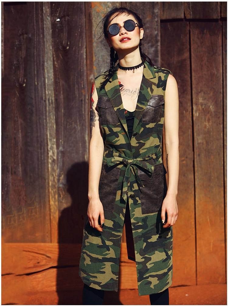 Femmes Poitrine Green Manteau Army Unique L'été Ceinture Aporie Et Imprimer Veste Vintage V Camouflage Comme Printemps Militaire Nouveau Bloc cou Le Couleur Aigyptos x0HBwTqx