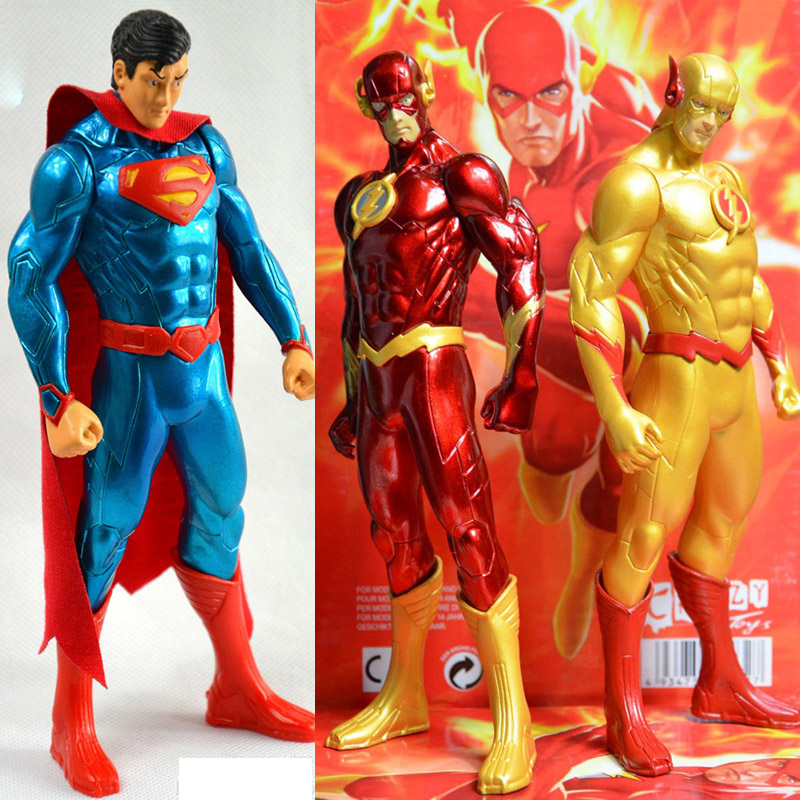 DC Den nya rättvisa League JLA Superhero Flash Barry Allen PVC Anime Action Figur Superman Model Collection Toy Gift