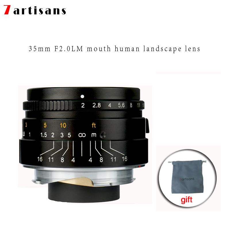 7 artisans 35mm F2 Large Aperture paraxial M-mount Lens for Leica Cameras M-M M240 M3 M5 M6 M7 M8 M9 M9P M10 Free Shipping original 7artisans 50mm f1 1 m mount fixed lens for leica m mount cameras m m m240 m3 m6 m7 m8 m9 m10