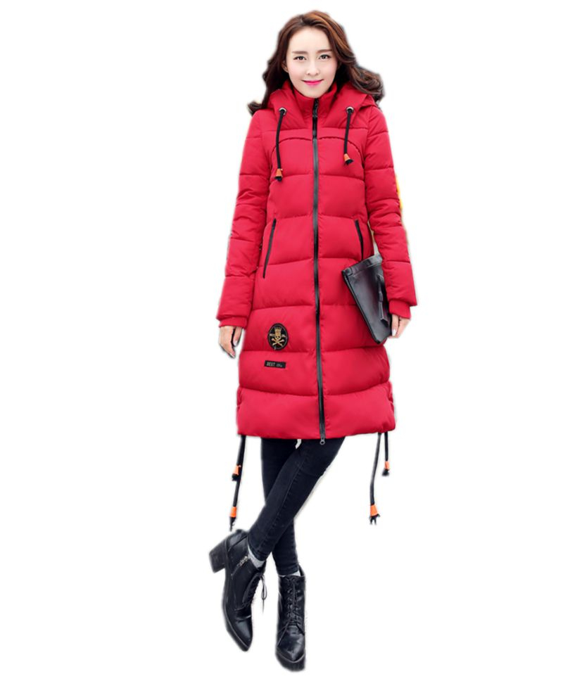 2016 Latest Winter Fashion Women Down jacket Hooded Thick Super warm Medium long Coat Long sleeve