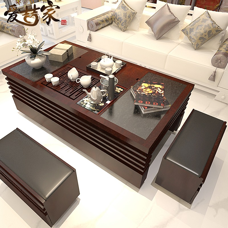 Teaside Chinese Fire Automatic Water Stone Tea Table Tables