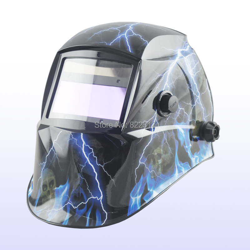 Solar auto darkening welding helmet/welding mask/MIG MAG TIG/Grinding/welding Yoga-718G Flame welder helmet mag tig grinding function polished chrome for free post