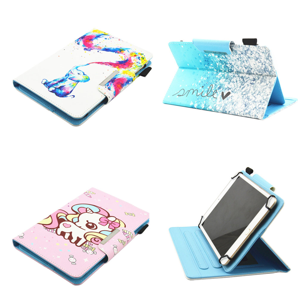 7 Inch Universal Tablet Case For Huawei Mediapad T1 7.0 T1-701U / T2 7.0 BGO-DL09 BGO-DL03 7.0'' PU Leather Flip Kids Case Cover