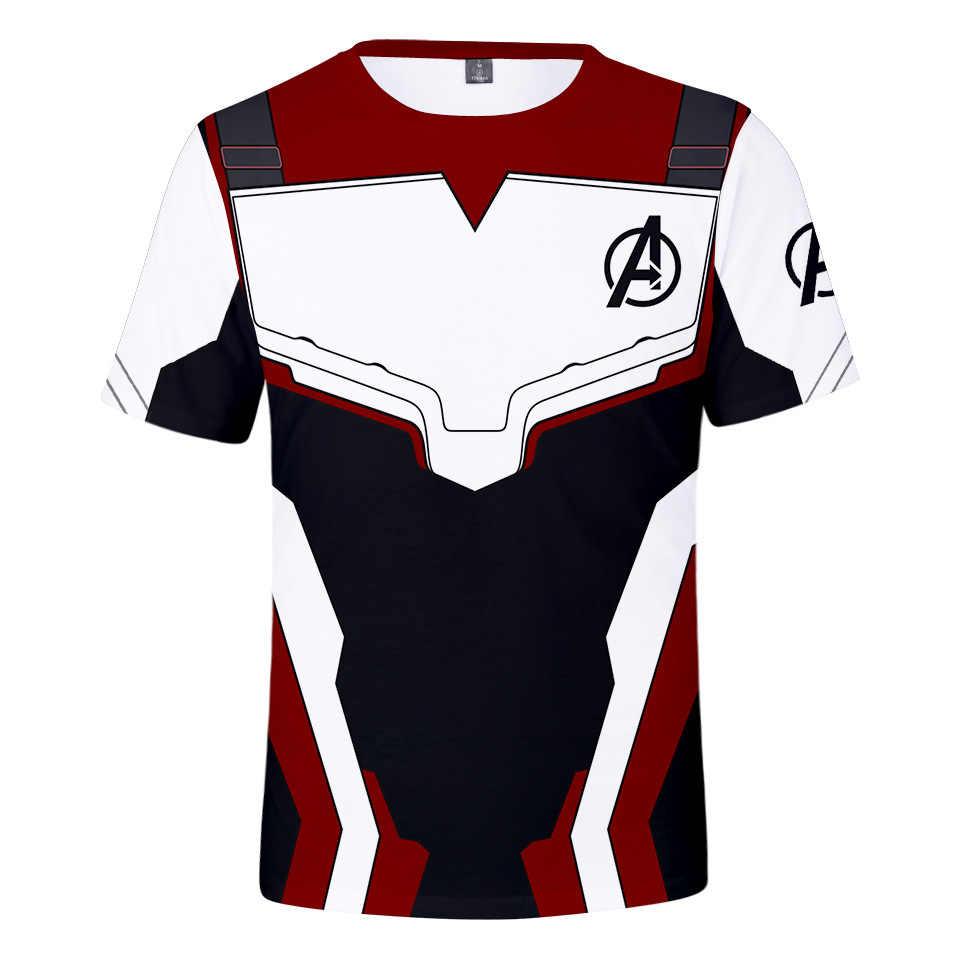 2019 Новый супергерой Marvel 3D Футболка мужская Мстители 4 эндгейм квантовое царство Железный Супермен, Мстители короткий бренд Мужская 3d футболка