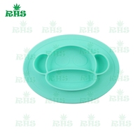 BPA FDA Free Children Plate Set Baby Silicone Placemat Plate With Low Price Free Shipping From
