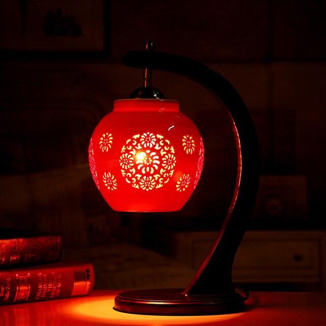 Red art chinese bedroom living room wedding table lamp jingdezhen red art chinese bedroom living room wedding table lamp jingdezhen table lamp porcelain ceramic table lamp aloadofball Gallery