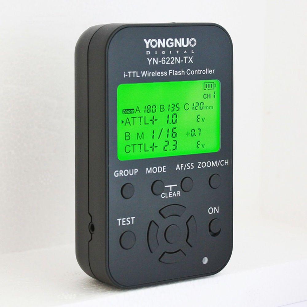 Вспышка YONGNUO триггер YN-622N-TX 622 nkit 622N-RX ресивер I-TTL HSS 2.4 г 1/8000 s TTL Беспроводной flash контроллер с светодиодный Экран