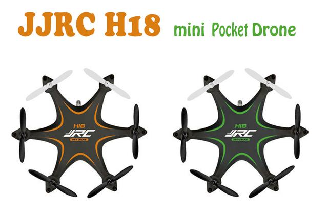 S15851/2 H18 JJRC Bolso Zangão 2.4G 4CH Mini Headless Modo RTF Hexacopter Quadcopter 6 Eixos Giroscópio 3D Roll RC Helicóptero