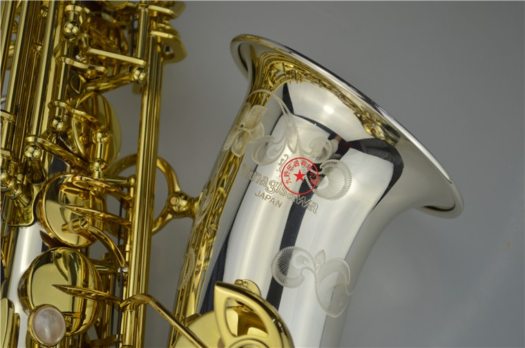 Brand NEW YANAGISAWA A-WO37 Alto Saxophone Nickel Plated Gold Key Professional YANAGISAWA Super Play Sax Mouthpiece With Case musical instruments yanagisawa t wo37 tenor saxophone bb tone nickel silver plated tube gold key sax with case mouthpiece gloves