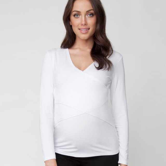 c3d4d57a0a5 Casual Cotton Maternity Nursing Shirts Spring Breastfeeding Tops Tees For  Pregnant Women Pregnancy Lactation Nurse Wear