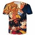 Новые Команды Dragon Ball Z Супер Саян футболки Гоку/Вегета/Гохан/Готен 3D т рубашки Мужчин женщины Аниме футболки Harajuku футболки