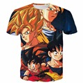 Newest Team Dragon Ball Z Super Saiyan t shirts Goku/Vegeta/Gohan/Goten 3D t shirt Men Women Anime tshirts Harajuku tee shirts