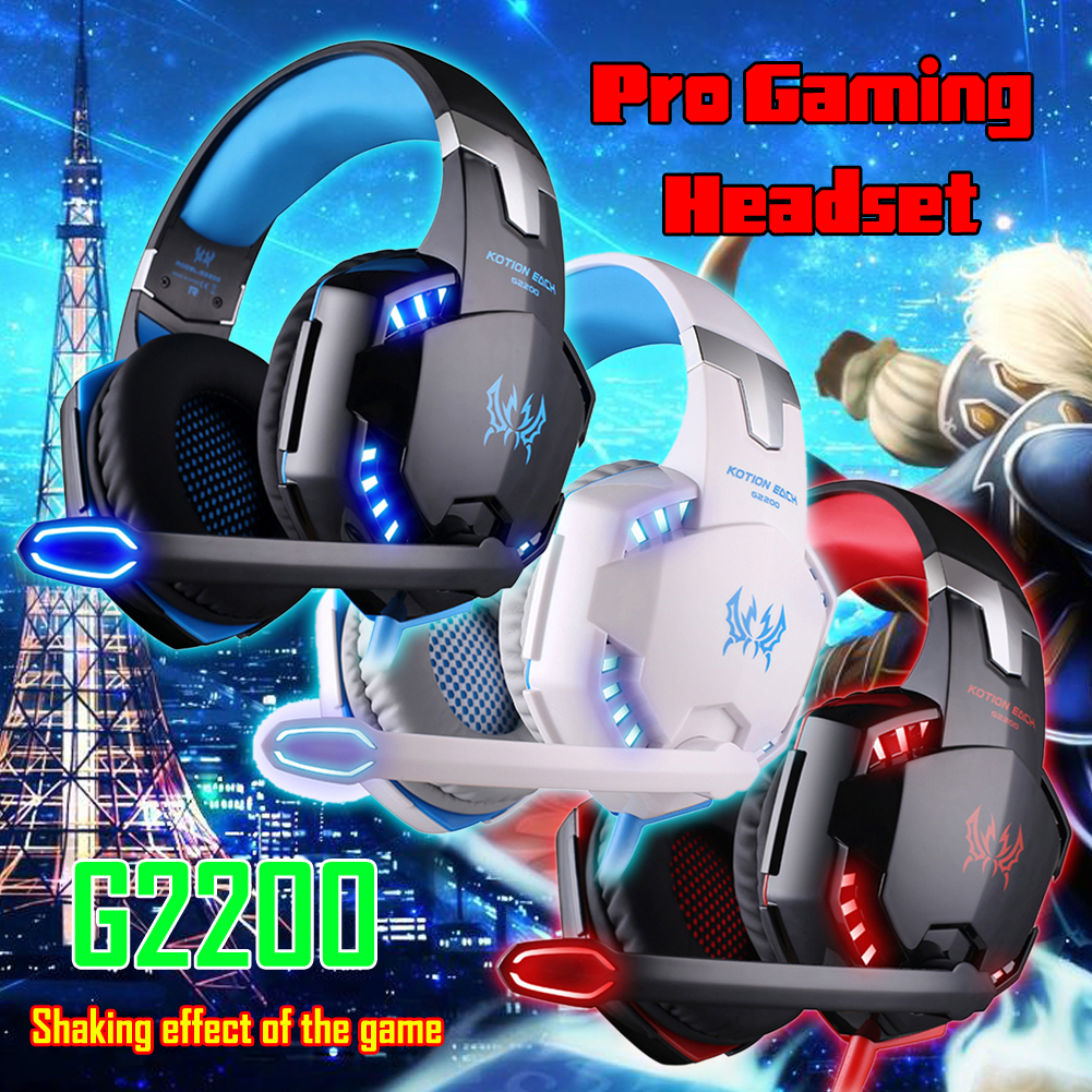 KOTION EACH G2200 USB2.0 Gaming Headphone with Microphone Pro Gaming Headset USB Headphone For PS4 Laptop LED Line Controller