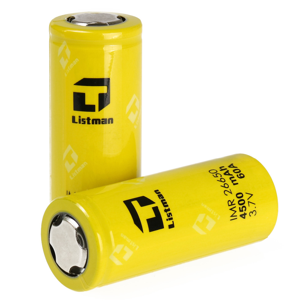 1pc Listman 26650 battery 4500mah 60A high rate suitable for Electronic Cigarette istick pico mega box