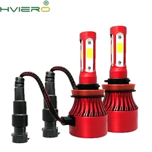 2X 4C COB H1 H13 H3 9004 9005 Auto Headlight Fog Bulb 6400LM High Low Beam Spot Light Auto HeadLamp 6500K 12V