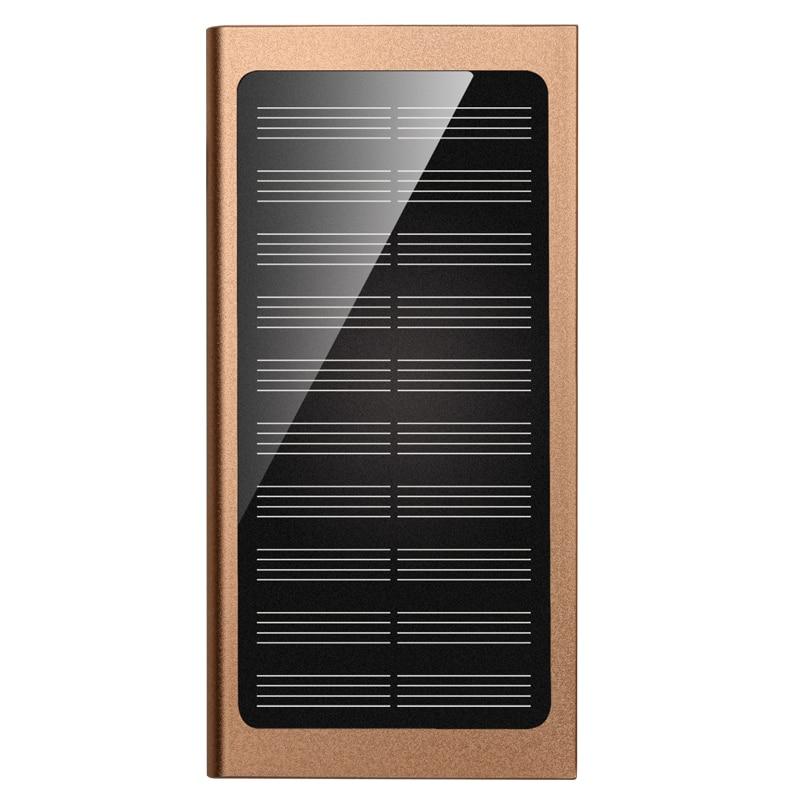 Ultra Delgado 20000 mAh Banco de la Energía Solar luces LED de luz de fondo con